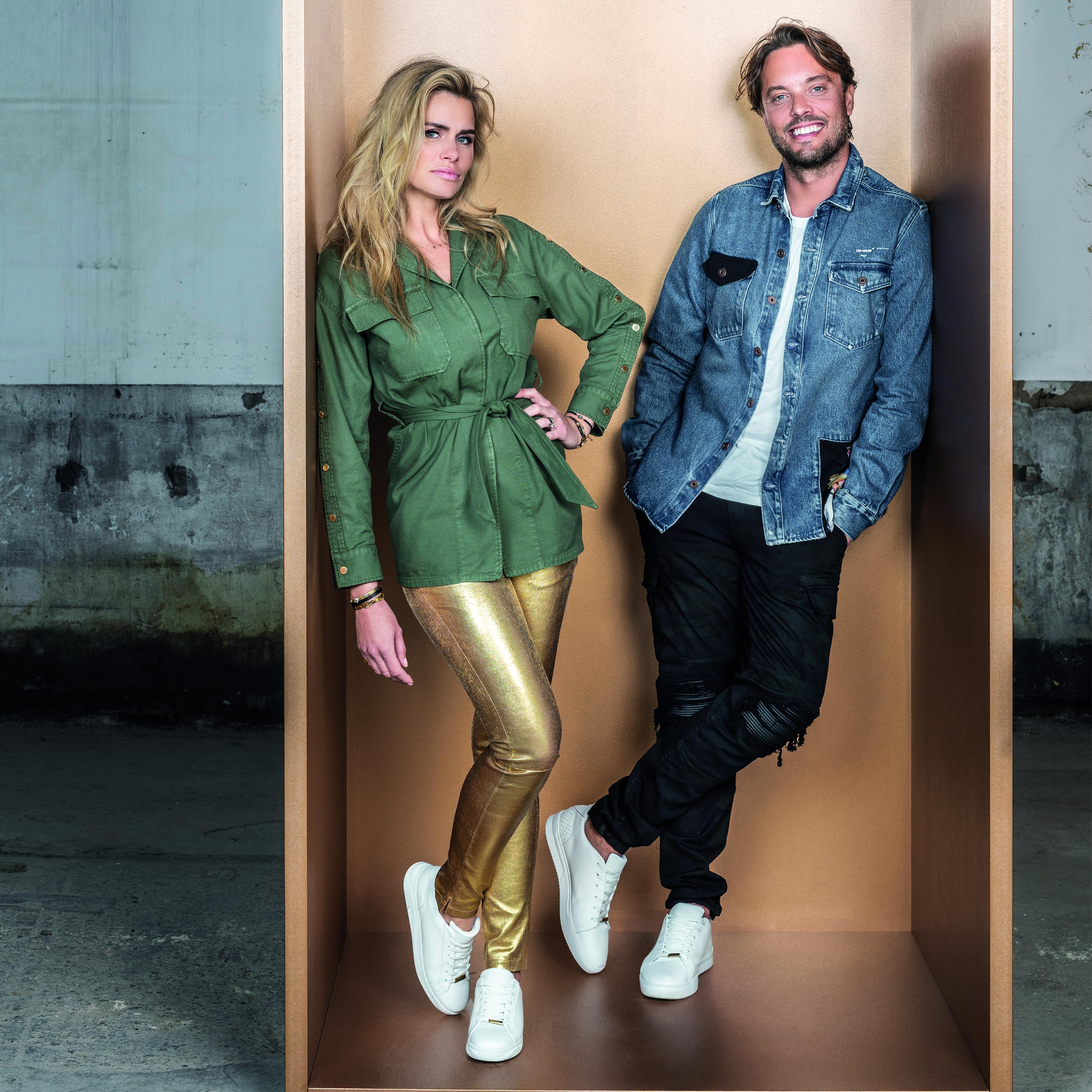 Nicolette van Dam en Bas Smit lanceren sneakercollectie voor